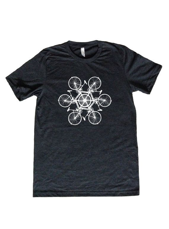 Circle of Bikes Mens Shirt with Bicycles by VicariousClothing