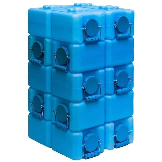 Water Storage Containers BPA Free WaterBrick 3.5-gallon Pack of 10 Food Wide Lid #WaterStorageContainers