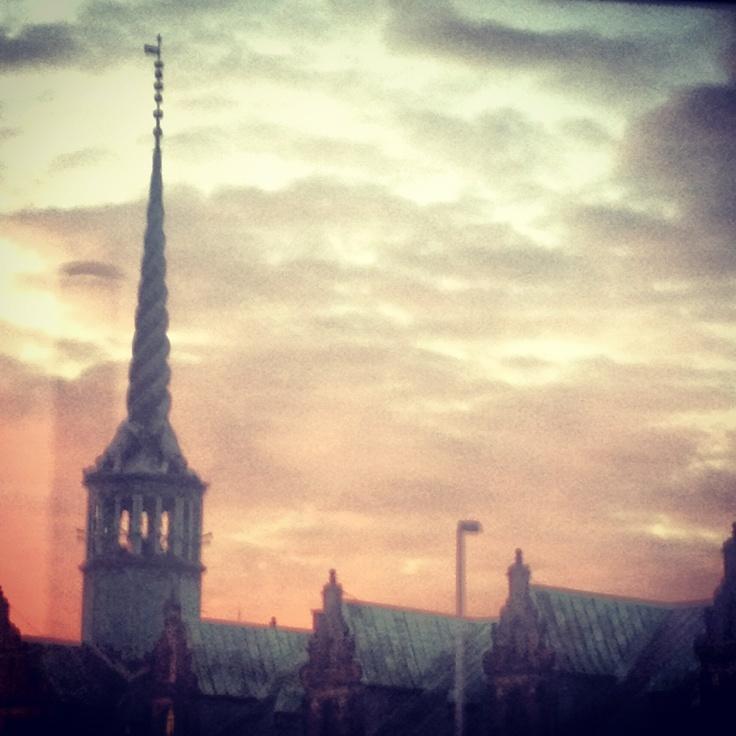 Sunrise over Copenhagen.