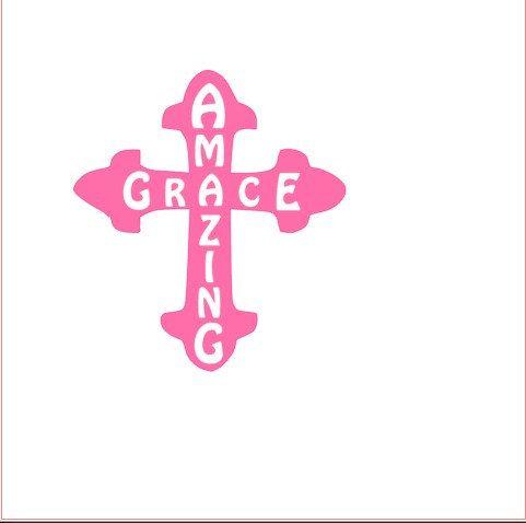 Custom Cross Decal Vinyl Decal Christian Decal By