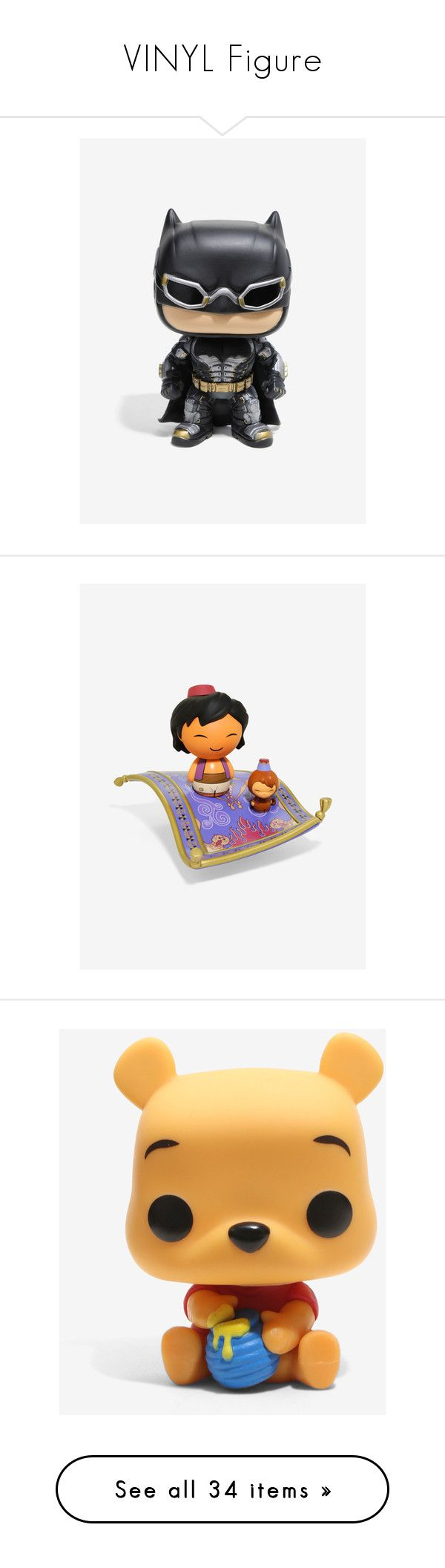 """""""VINYL Figure"""" by majastina2004 ❤ liked on Polyvore featuring home, home decor, vinyl figure, funko, justice league figurines, batman figure, batman figurine, vinyl home decor, disney home decor and disney figurines"""