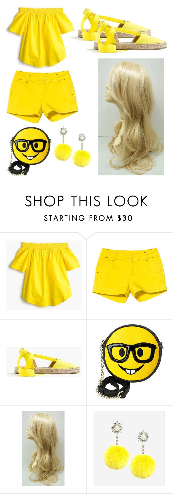 """""""17"""" by cristina-vanau on Polyvore featuring J.Crew, Kavu, OLIVIA MILLER and Rock 'N Rose"""