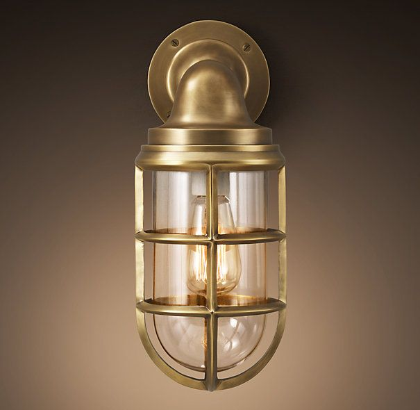 Starboard Sconce Antique Brass