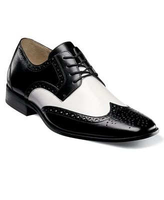 Stacy Adams Shoes, Nolan Two Tone Wing Tip Lace Up Oxfrods