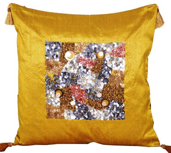 gold throw pillow sequin throw pillow decorative throw pillow ideal for adding a