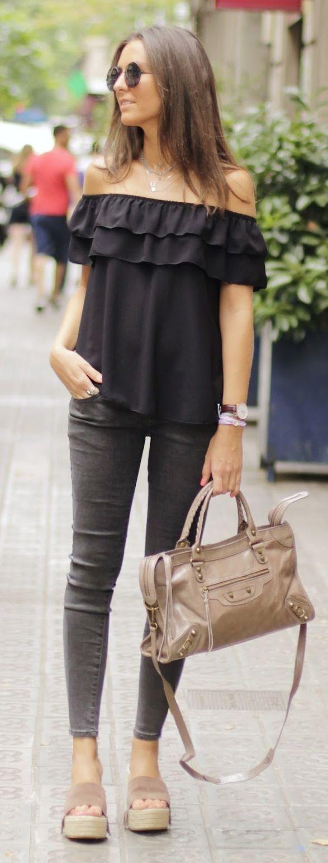Ruffle Off Shoulder Top by BCN Fashionista