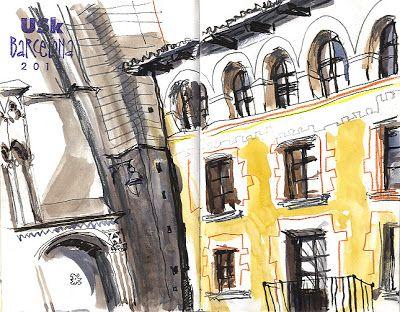 An Illustrator's Life For Me!: Urban Sketching Symposium - Inma's Workshop