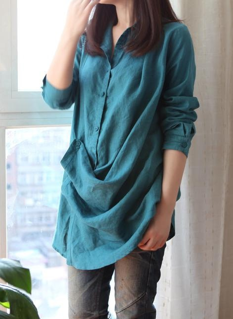 Google Image Result for http://data.whicdn.com/images/30083795/clothing-women-shirt-blouse-tunic-babydoll-long-sleeve-pleated-long-lapel-green-casual-linen-spring-Favim.com-444418_large.jpg