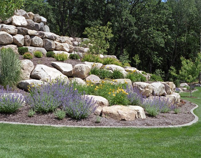 retaining wall boulder images specializes in naturalistic retaining