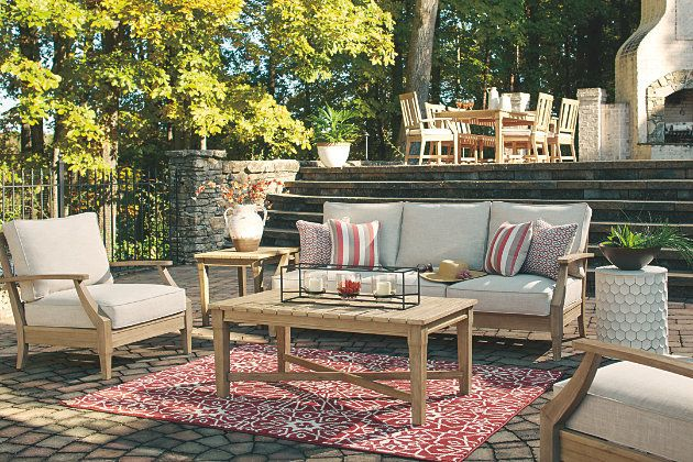 Clare View Outdoor Sofa With Cushion Ashley Furniture Homestore Outdoor Furniture Sets Patio Outdoor Sofa