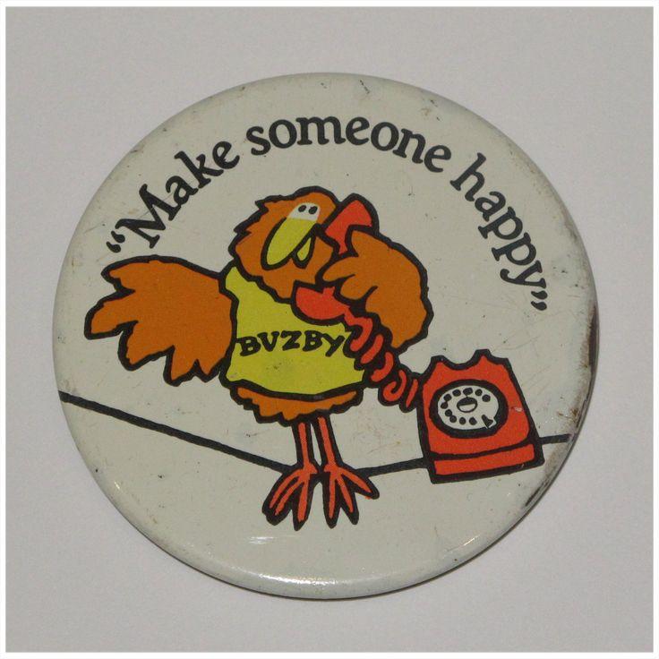 1980's British Telecom Buzby pin badge