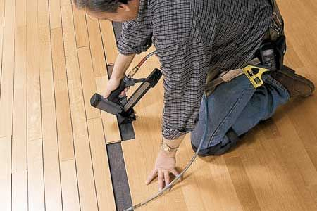 Learn how to lay your own engineered wood floors and save! | Photo:  | thisoldhouse.com