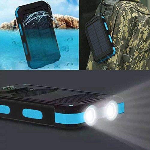 Waterproof 500000mAh Dual USB Portable Solar Battery Charger Solar Power Bank