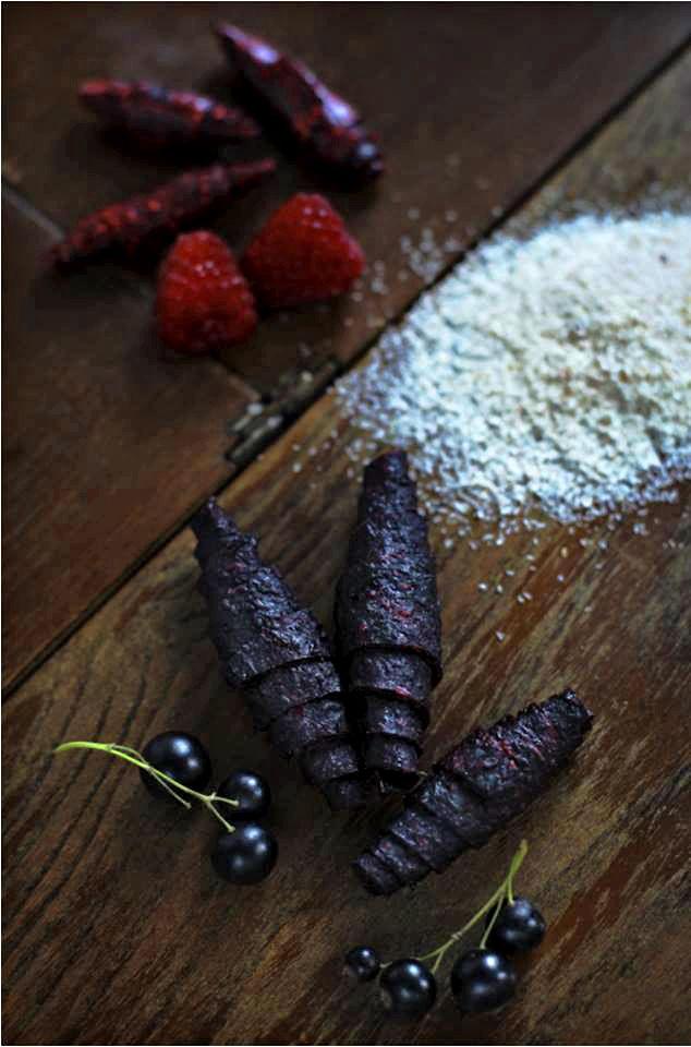 fruchtleder - vitaminreiche süßigkeit, raw, vegan