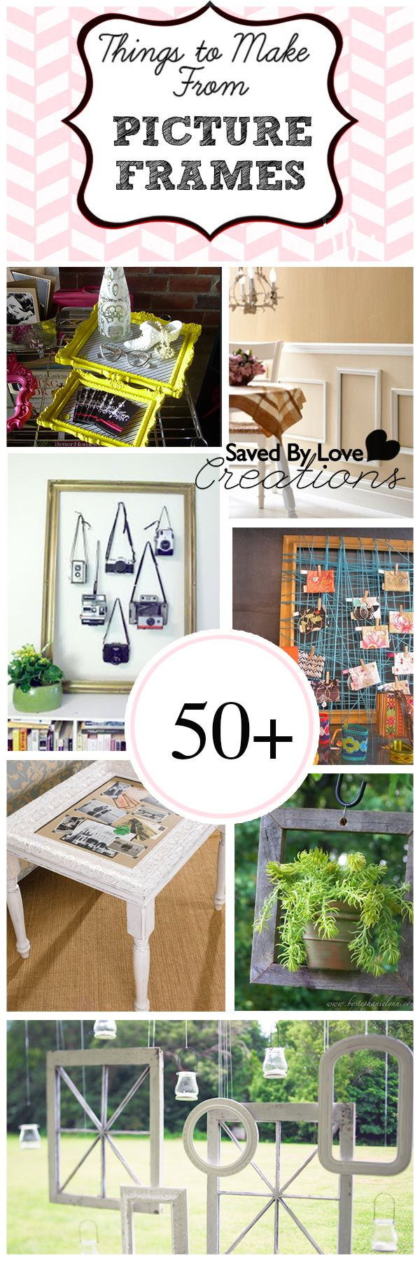 50+ Creative Things to Make From Picture Frames  #repurpose #upcycle #diy @savedbyloves   Many of these ideas we've all seen before, but there are some that I haven't seen before which I think are quite cool!