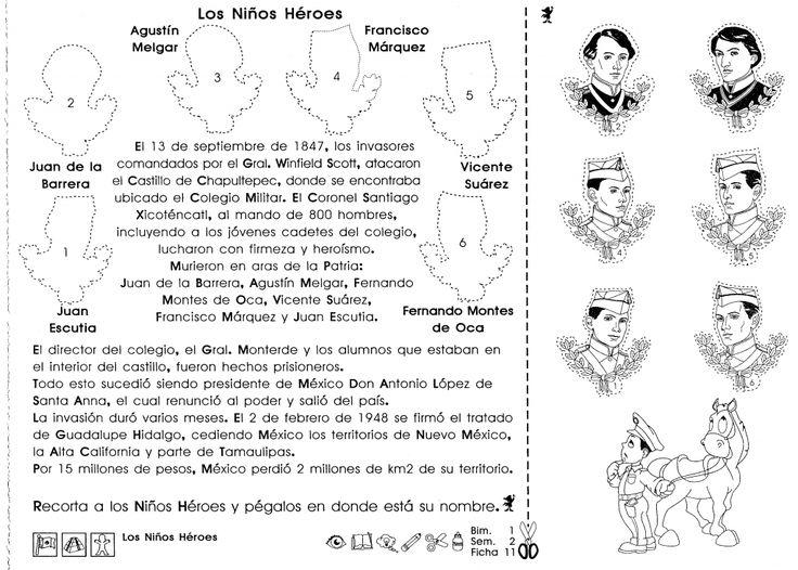 5to grado: Los niños héroes (México) - Material de Aprendizaje