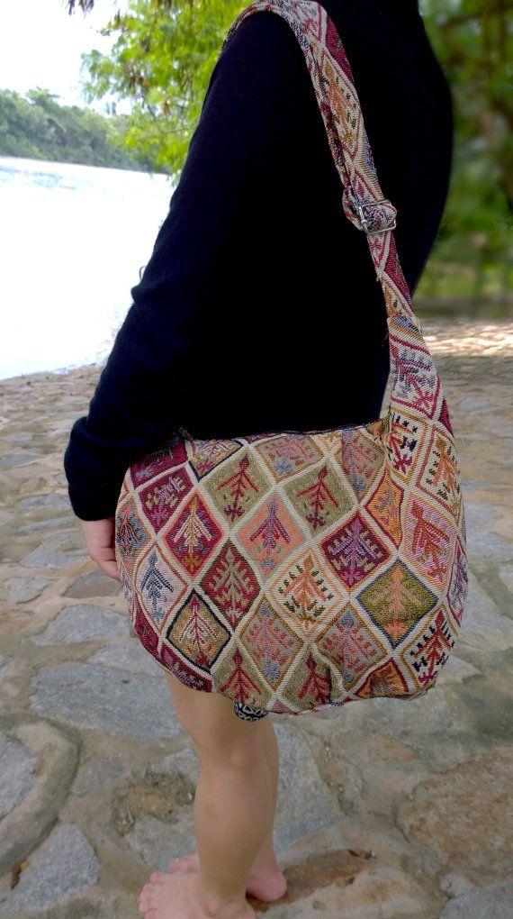 On SALE  Kilim Embroidery Hmong Cross Shoulder Bag  by Eyemagnet