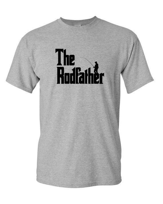 fdf334c229 The Rodfather Shirt - Fishing T-Shirt - Funny Gift Dad - Present T ...