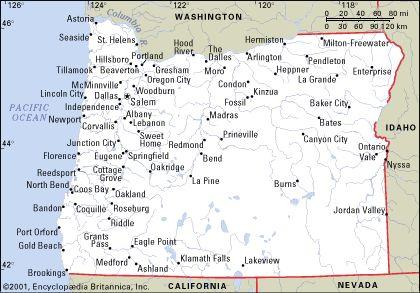 Free Map Of Oregon HolidayMapQcom Portland Pinterest - Map of orgeon