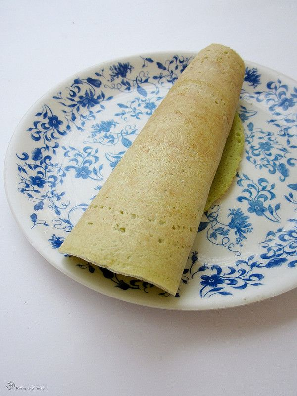 Recepty z Indie: Placky Dosa s jarnou cibulkou