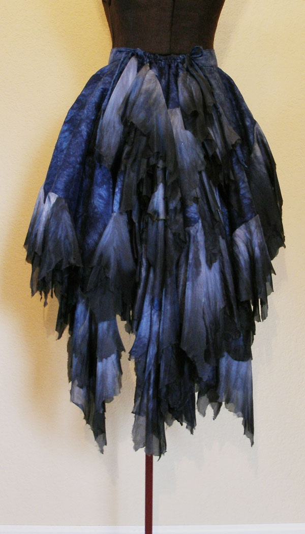 A hand-dyed silk bustle... drool.