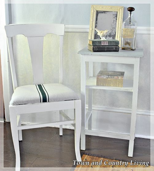 Faux French Grain Sack Chairs