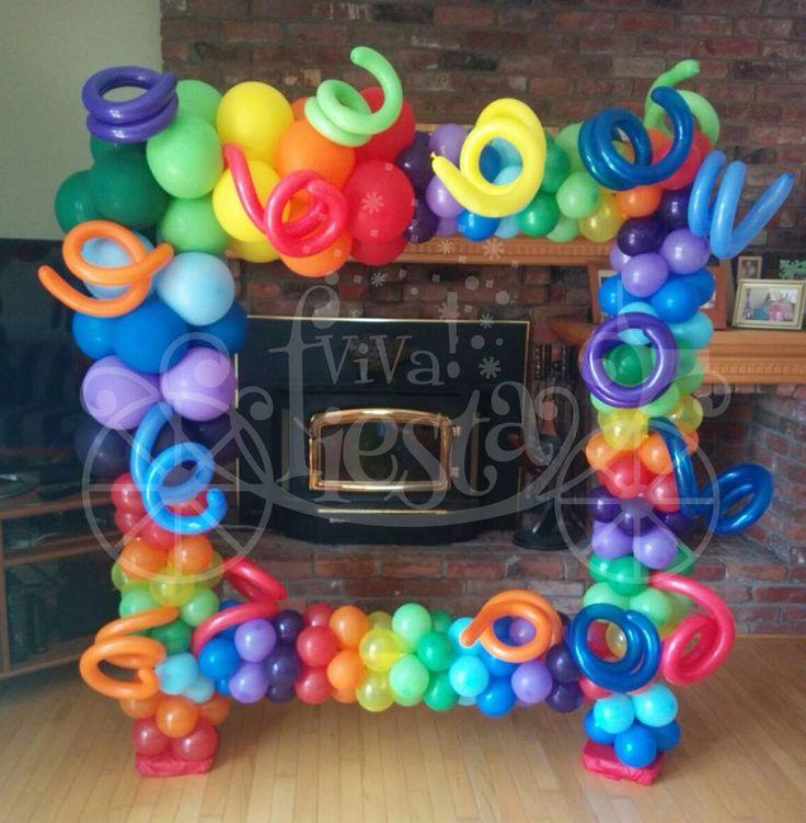 un colorido marco para enmarcar tus fotos en tus fiestas!