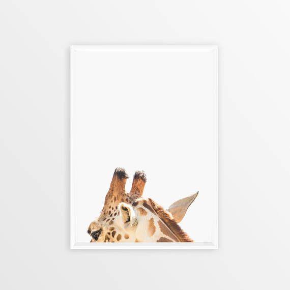 Giraffe Print Safari Nursery Wall Art Decor Large Printable