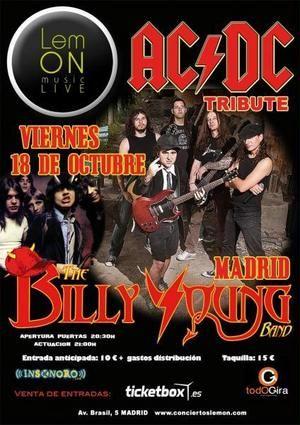 Concierto de The Billy Young Band en Madrid (Tributo a ACDC) Entradas a la venta