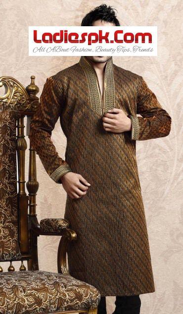 Latest Men Kurta Design for Mehndi wears 2013