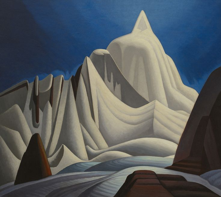 Mountains in Snow: Rocky Mountain Paintings VII by Lawren S. Harris