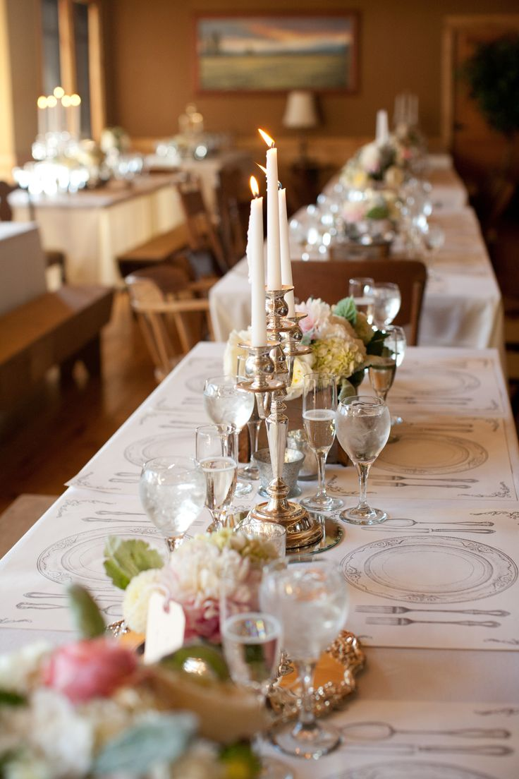 Can You See These Paper Placemats? How Cute! See The Wedding On SMP: