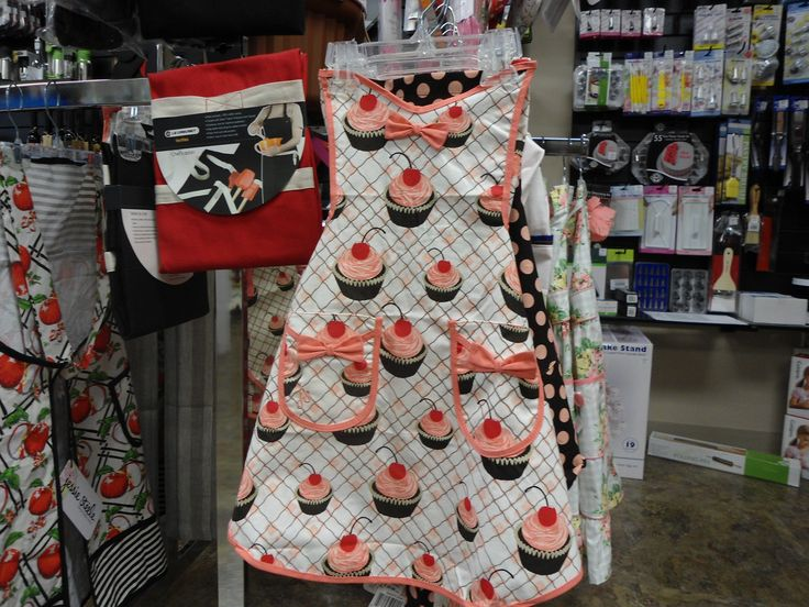 """A cute full """"cupcake"""" apron available at the Culinary Poet."""