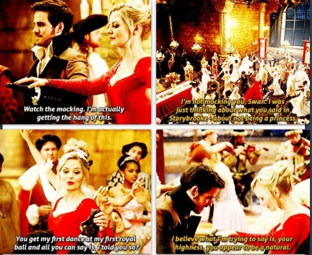 Hook as Emma's first dance at a royal ball!