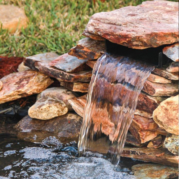 Small Garden Ponds With Waterfalls: Total Pond 8 In. Spillway Waterfall Cascade-52534