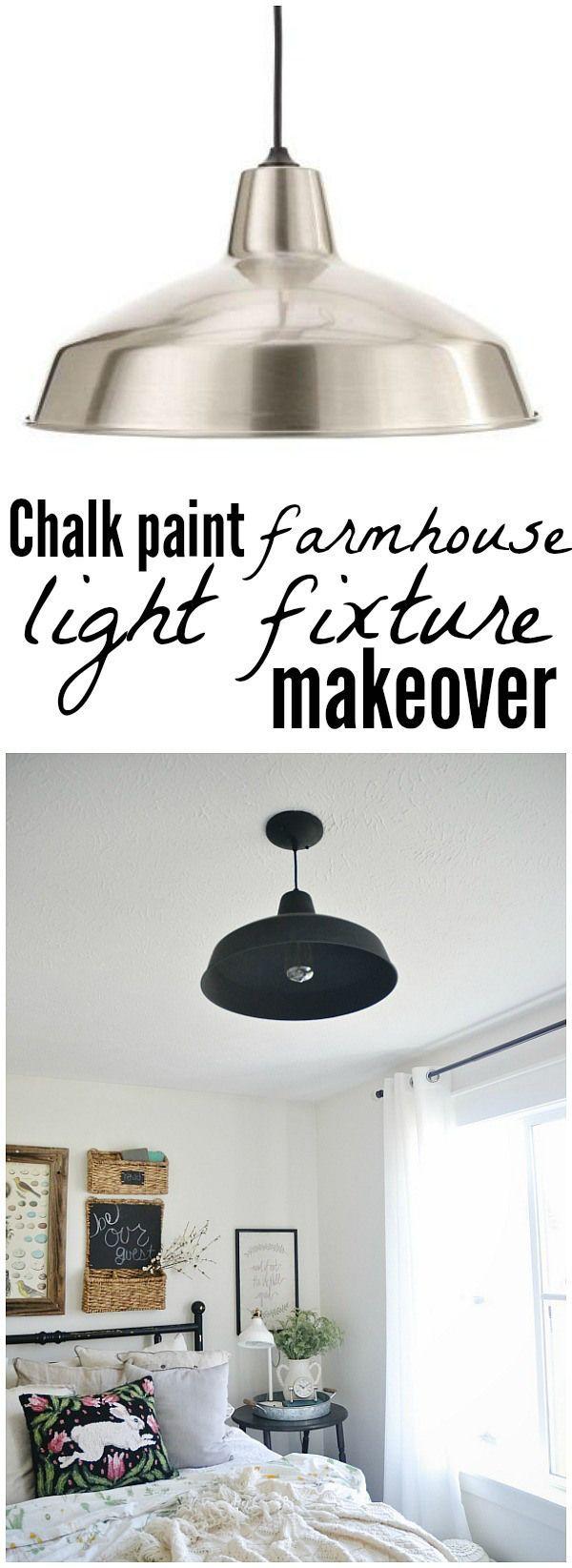 chalk paint farmhouse light fixture this is the perfect guest bedroom - Farmhouse Light Fixtures