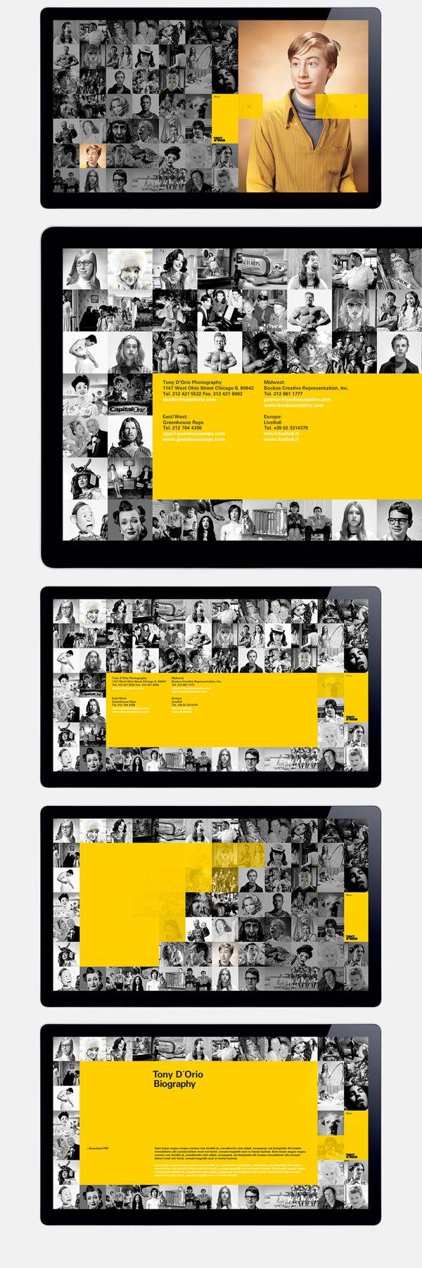 Tony D´Orio - Interactive Design by Sebastian Gram, via Behance