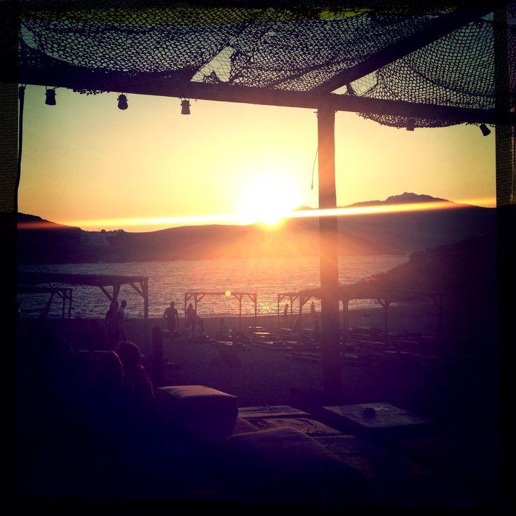 Sunset @ Alemagou only in Mykonos ..