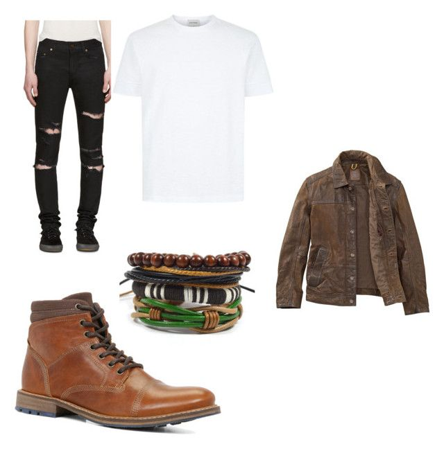 """Bad boy outfit"" by mihai-cosmin on Polyvore featuring ALDO, Yves Saint Laurent, Timberland, men's fashion and menswear"