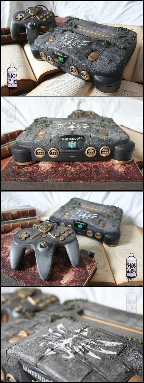Nintendo 64 Old relic - Zelda theme custom designed N64 by french fan Vadu Amka   #DIY #N64