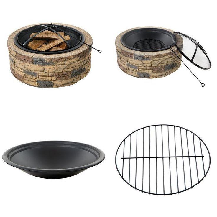 Fire Pit Bowl Wood Burning Stone Holiday Design Decor Patio Heater Backyard  #SnowJoe #fire,#pit,#garden,#yard,#patio,#set,#bbq,#outdoor,#wood,#burning,#bowl,#screen,#protector