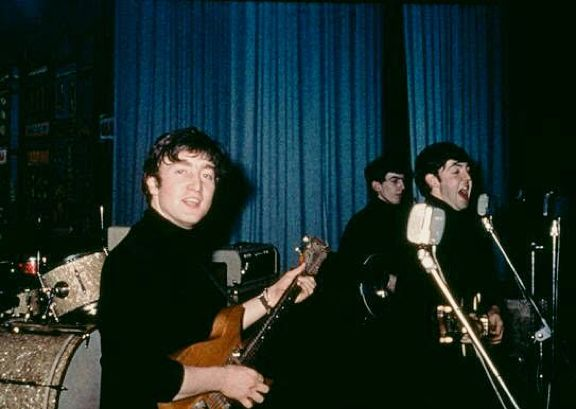 #TheBeatles performing on stage at the Star Club, #Hamburg in 1962