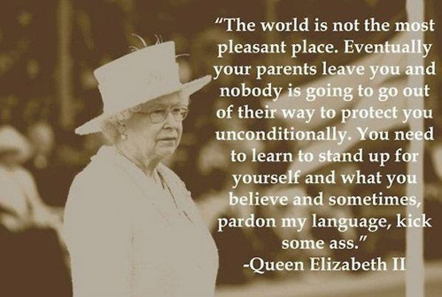I hope she actually said this.