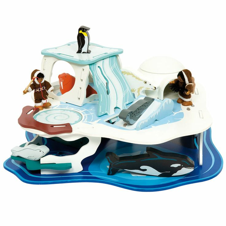 Bigjigs Toys Polar Glacier   Thereu0027s Room For Everybody On The Bigjigs Toys  Polar Glacier . The Penguin Gets His Place In The Sun, A Roly Poly Walrus  Has A ...