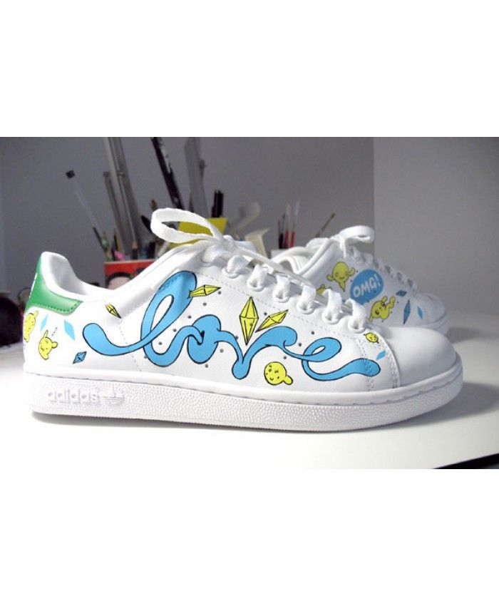 Adidas Stan Smith Womens Paint Shoes Sale