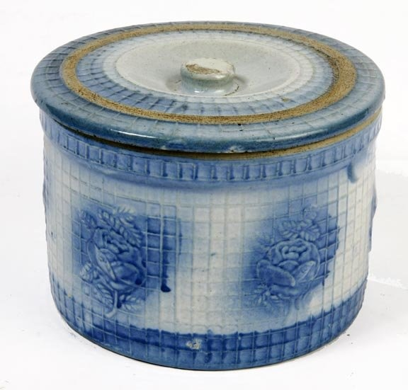 Salt Glaze Pottery Butter Crock : Lot 139