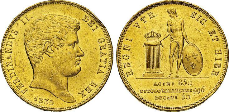 NumisBids: Numismatica Varesi s.a.s. Auction 65, Lot 508 : NAPOLI - FERDINANDO II DI BORBONE (1830-1859) 30 Ducati o Decupla...