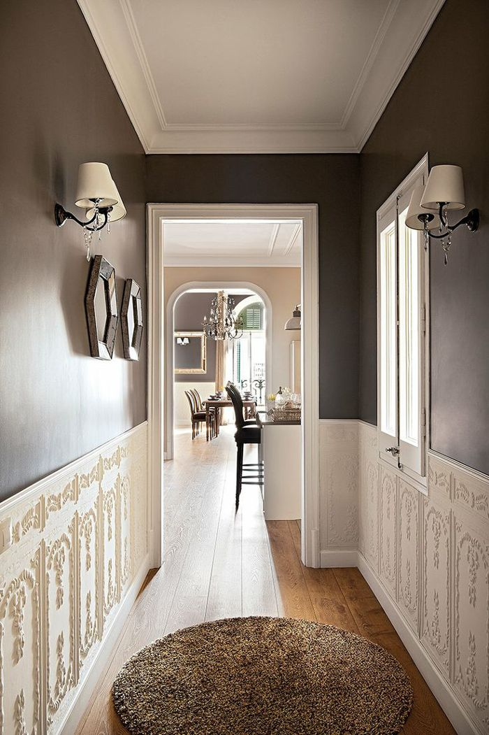 Dark Foyer Paint : I want to paint the hallway a dark colour almost black