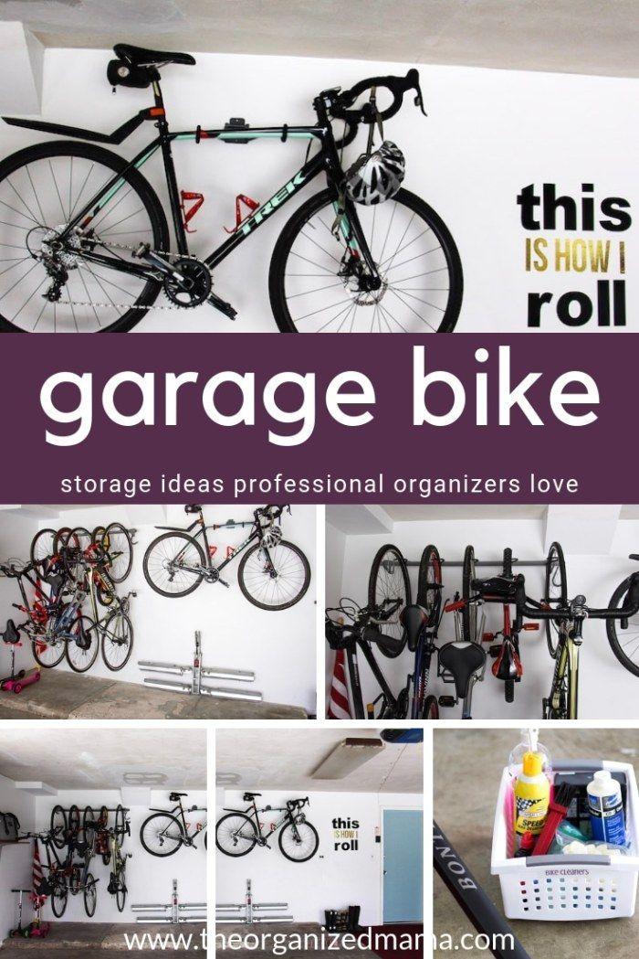Garage Bike The Best Garage Bike Storage Tips From A Professional The Organized Mama Bike Storage Garage Garage Bike Bike Storage