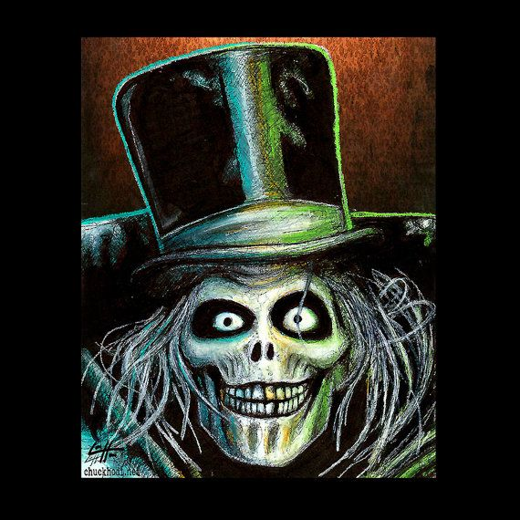 Print 8x10  The Hatbox Ghost  Haunted Mansion Disney by chuckhodi